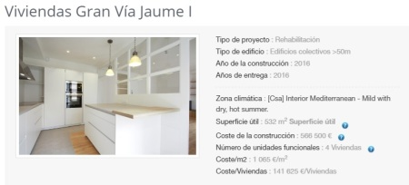 1Viv. Gran Vía  Jaume I.Girona.